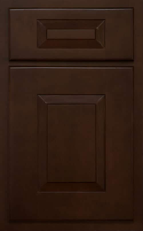 Cimarron dark brown cabinets