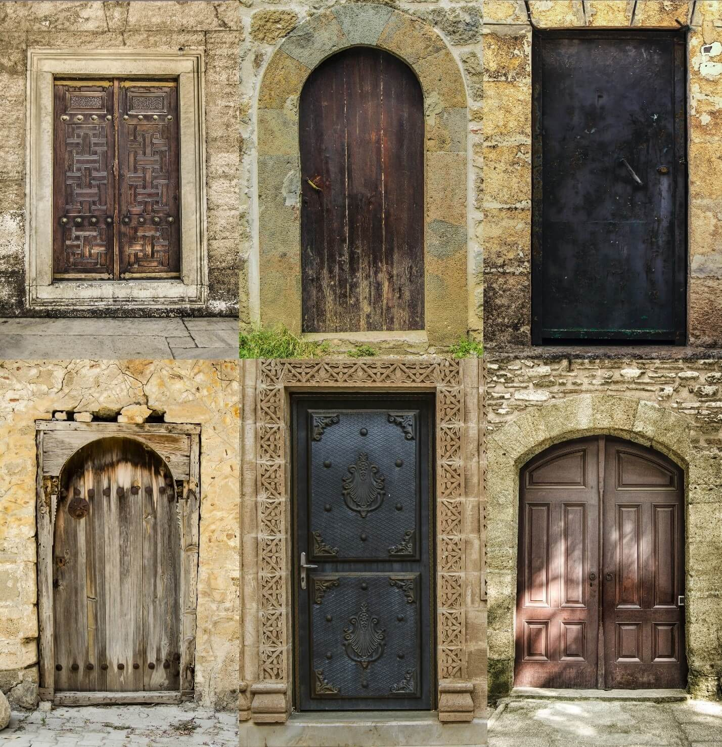 variety of beautiful iron doors safe and secure